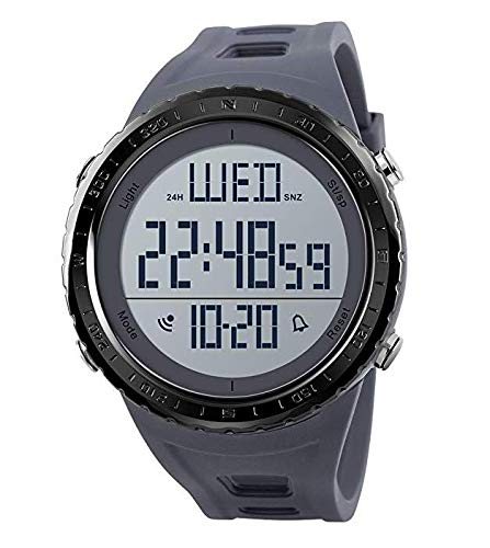 Herren Digital-Sportuhr, OLED-Bildschirm, Militär-Stil, Survival-Armbanduhr, wasserdicht -