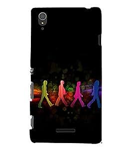 EPICCASE Walk of Life Mobile Back Case Cover For Sony Xperia T3 (Designer Case)