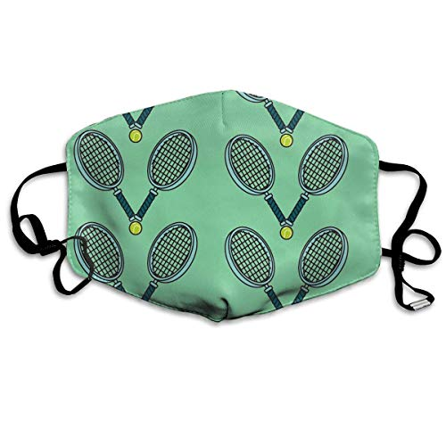 Kostüm Soft Lion - Nicegift Soft Earloop Face Mask, Anti-Dust Anti Flu Pollenm Bacteria Virus Smog Mouth-Muffle with Adjustable Elastic Band - Windproof Tennis Ball and Racket Half Face Mouth Mask