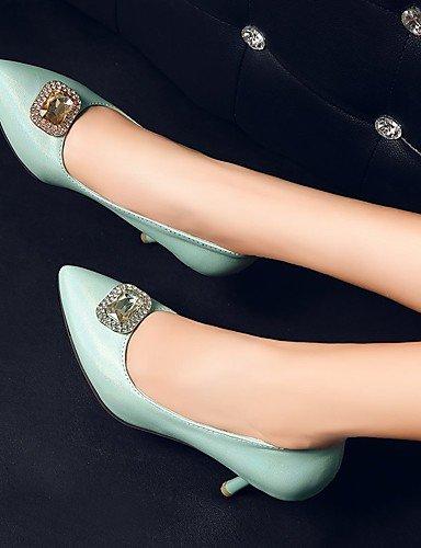 WSS 2016 Chaussures Femme-Extérieure / Bureau & Travail / Habillé-Bleu / Blanc / Amande-Talon Aiguille-Talons / Confort / Bout Pointu-Talons- white-us7.5 / eu38 / uk5.5 / cn38