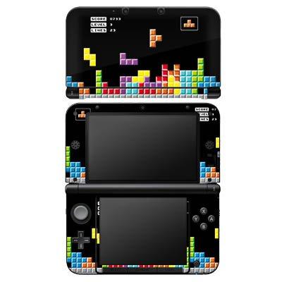 Nintendo 3 DS XL Case Skin Sticker aus Vinyl-Folie Aufkleber Spiel 8-Bit Tetris Bunt