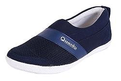 Quarks Mens Navy Blue Smart Slip On Casual Shoes Q1056NV-10