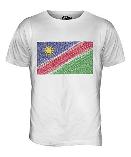 CandyMix Namibia Kritzelte Flagge Herren T Shirt Weiß