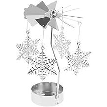 2x Karussell Teelicht rotierenden Kerzenhalter Romantische Nachtlicht