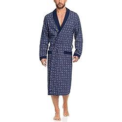 Timone Bata Larga Vestidos de Casa Hombre N1TH1N (Azul Oscuro, XL)