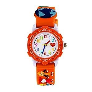 Kinder Armbanduhr Analog Uhren, Mädchen Time Teacher Uhren Lesen Lernen Kinderuhr Wasserdicht Teaching Lernuhr Uhr für Kinder Mädchen