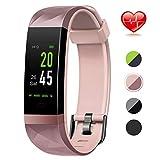 Color Screen Fitness Tracker, Lintelek Activity tracker, IP68 Waterproof, Heart Rate Monitor, Calorie