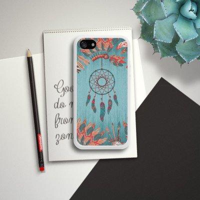 Apple iPhone 5s Housse Étui Protection Coque Capteur de rêves Indien Indien Housse en silicone blanc