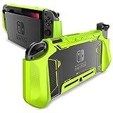 Mumba Étui pour Nintendo Switch - Étui/Coque de Protection en TPU Compatible avec Console Nintendo Switch et Contrôleur Joy-Con (Vert)