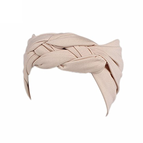 JUTOO Frauen-Damen-Boho-Turbankopf-Wickel-Stirnband-Sport-breites elastisches Stirnband