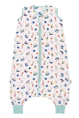 Schlummersack Bambus-Musselin Schlafsack mit Füßen 0.5 Togfür den Sommer - Boote - Jungen - 120 cm