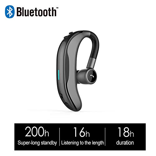 CITEJ Business Wireless Bluetooth Kopfhörer Stereo Bass Headset mit Mikrofon Universal Kopfhörer für iPhone Xiaomi Huawei Samsung Haken,B Universal Bluetooth Stereo