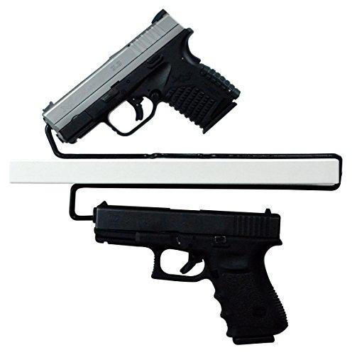 Boomstick Gun Zubehör Universal über/Unter Regalen Pistole Kleiderbügel, Set von 2 (Handgun Rack)