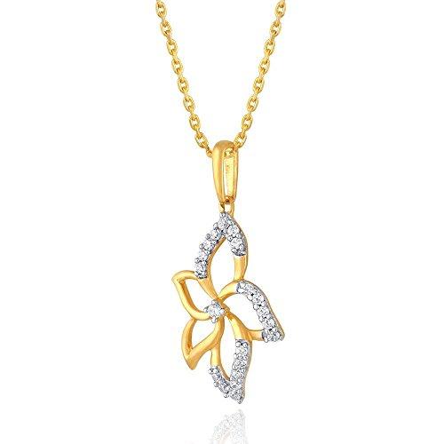 Asmi 10k (417) Yellow Gold and Diamond Pendant