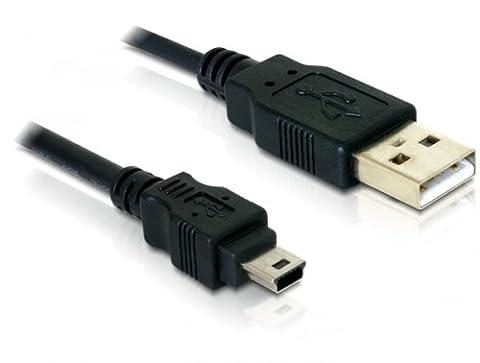 Delock cable USB 2.0 > USB-B mini 5pin prise mâle/prise mâle