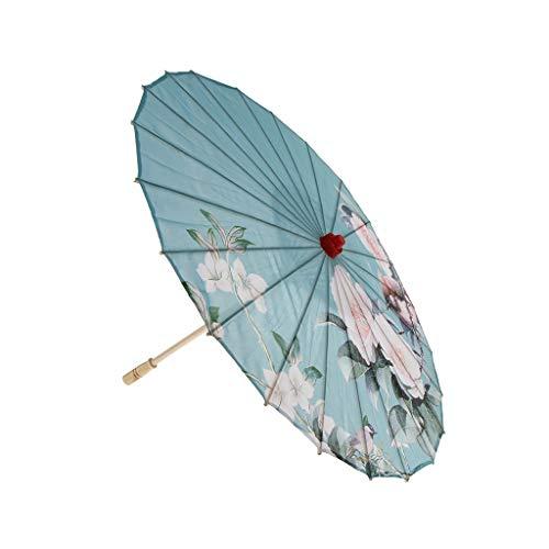 P Prettyia Stoffschirm Regenschirm Sonnenschirm Tanz Schirm Deko Schirm für Hochzeit Tanzball Theater Bühnenshow usw. - I