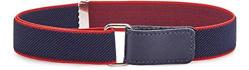 Ladeheid Cinturón Elástico para Niños 112Años P15 Azul OscuroRojo 16Años
