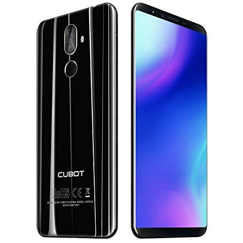 CUBOT X18 Plus 5,99 Zoll Entsperrt 4G Smartphone, FHD + 18: 9 Bildschirm, Android 8.0, Octa-Core 4GB RAM+64G ROM, Zweifachkamera, Dual-SIM, 4000mAh Fingerabdruck-Mobiltelefon (Schwarz)