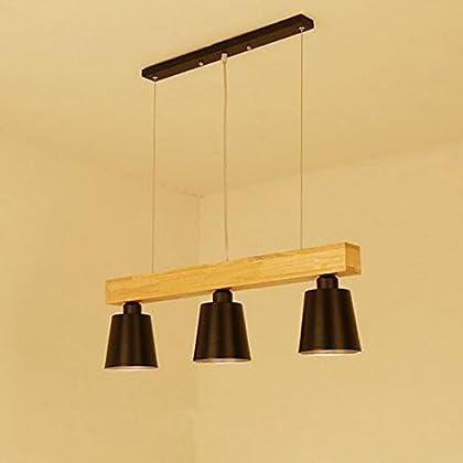 Dimmable Lampe Réglable Suspension Led Bois Plafonnier 5w Hauteur EDH92I