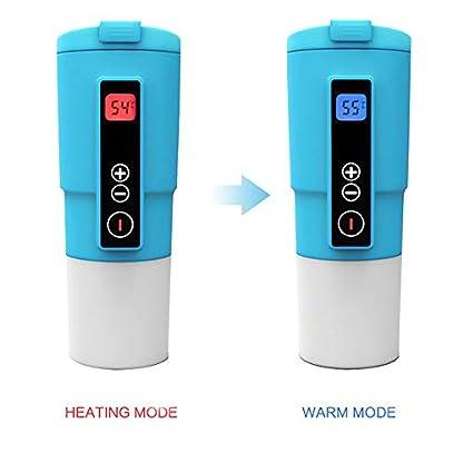 Puncia-12V-Wasserkocher-Auto-Edelstahl-Elektrische-Smart-Kaffeetasse-fr-Auto-mit-Temp-Steuerung-und-DisplaySchwarz
