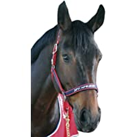 John Whitaker Brida para caballos rojo rosso Talla:Cob