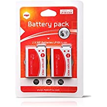2 x Batería MP EXTRA ® LP-E8 LPE8 para cámaras digitales CANON EOS 550D , EOS 600D , EOS 650D , EOS 700D, EOS Rebel T2i , EOS Rebel T3i