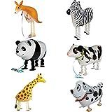 ED-Lumos di Ghiaccio per i Bambini Palloncini con i Piedi Forma Riutilizzabile Canguro Zebra Panda Cane Giraffa Mucca da Latte