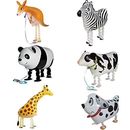 ED-Lumos de Hielo para niños Globos con pies Reutilizable Forma Canguro Cebra Panda Perro Jirafa Vaca lechera