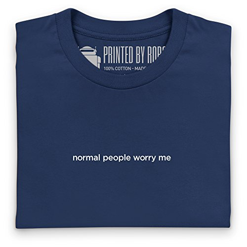 Normal People Worry Me T-Shirt, Damen Dunkelblau