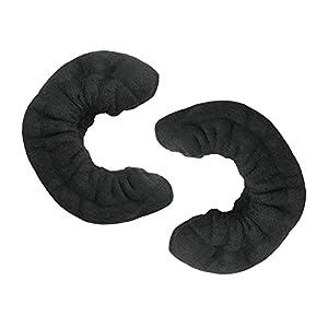 weiche Terry Klinge Cover für Schlittschuhe, schwarz