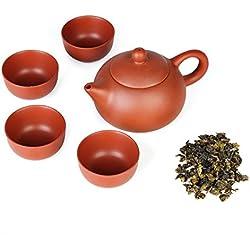 5pcs/set kung fu té tazas de cerámica chinos yixing morado arcilla tetera por bosque sueño