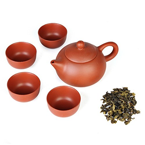 5 pcs/set Thé Kung Fu Tasses en céramique chinois de Yixing Argile Pourpre Tea Pot par Forêt Dream