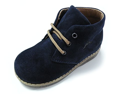 Andrea Morelli Chaussure Lacets premiers pas bleu mâle bleu Bleu