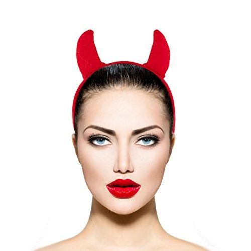LUX Zubehör Rot Stoff Teufel Halloween-Kostüm Zubehör Stirnband