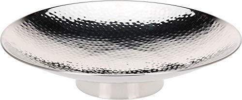 DRULINE Dekoschale Gehämmert Edelstahl Ø 40 cm - Farbe: Silber