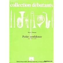 Partitions classique ROBERT MARTIN EMONET P. - PETITE CONFIDENCE - HAUTBOIS ET PIANO Hautbois