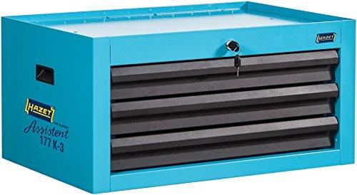 HAZET Aufsatzkoffer (für Werkstattwagen Assistent 177, drei flache Schubladen, Schubladentraglast 20 kg) 177K-3