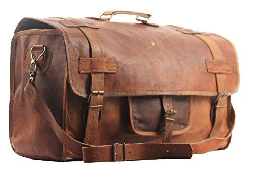 Sbazar borsone da viaggio, 50,8 cm, in stile vintage, da uomo, per bagagli a mano, per gite del fine settimana, sport/palestra