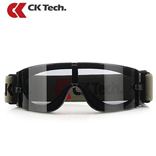 AIRBY CKTech AIRBY CKTech Professionelle Schutzbrille für industrielle Träger - (Grau Scheibe) - Sport Sonderausgabe - Permanente beschlagfrei, Kratzfest, UV380 Schutz - Safety Overglasses Grün