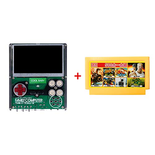 Pinjeer Nostalgic 500 Classic Game Built-in 4,3 Zoll Bildschirm Retro-Spielkonsole Pocket Portable Handheld Game Player Kinder Geschenke Lernspielzeug Spielkonsole (Snes-spieler Portable)