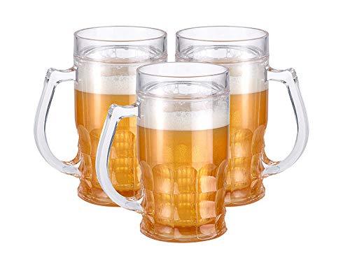 Quantity of Glasses:/4 Quantity of Glasses:4 BORMIOLI ROCCO 600ML Verre à bière Stein Chope à fossettes Lunettes Ale Mug 0.5L doublé Vaisselle et arts de la table Cuisine & Maison