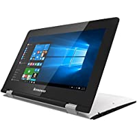 "Lenovo Yoga 300-11IBR - Portátil táctil convertible de 11.6"" HD (Intel Celeron N3060, RAM de 4 GB DDR3L, SSD de 64 GB EMMC, Intel HD Graphics 400, Windows 10 Home) blanco nieve - QWERTY Español"