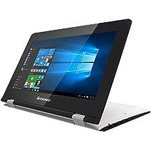 "Lenovo Yoga 300-11IBR - Portátil convertible de 11.6"" HD (Intel Celeron N3060, RAM de 4 GB DDR3L, SSD de 64 GB EMMC, Intel HD Graphics 400, Windows 10 Home) blanco nieve - teclado QWERTY Español"