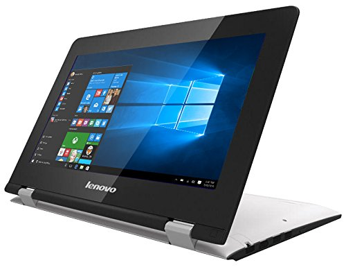 "Lenovo Yoga 300-11IBR - Portátil convertible de 11.6"" HD (Intel Celeron N3060, RAM de 4 GB DDR3L, SSD de 64 GB EMMC, Intel HD Graphics 400, Windows 10 Home) blanco nieve - teclado QWERTY Español"