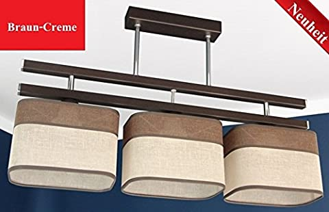 New Design Pendant Lamp Hanging Light Designer Light Stilo 247/3Lamp Braun-Creme