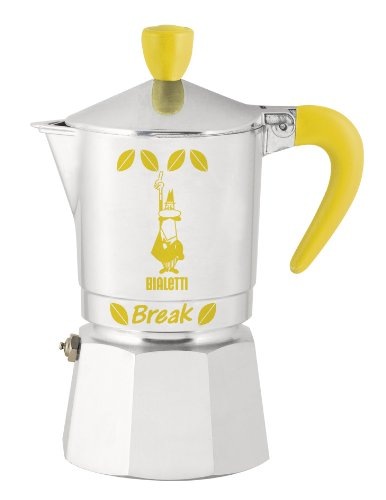Bialetti Break Yellow 3 Espresso Maker for 3 Cups/Aluminium