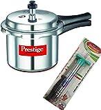 Prestige Popular Aluminium Pressure Cooker, 3 litres, Silver