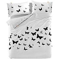 blanc. by HappyFriday Butterflies Funda NORDICA 220x220 [ Cama 135 ]