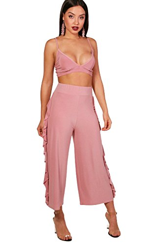 Rose Dust Womens Willow Slinky Firll Culotte and Bralet Set