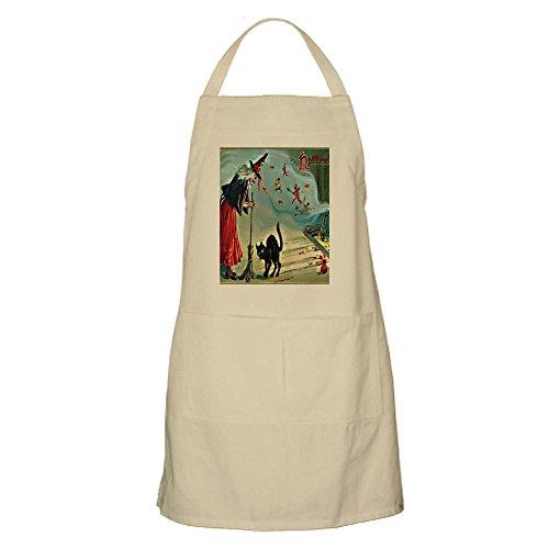 age Halloween Hexe schwarz Katze Schürze–Küche Schürze mit Taschen khaki (Halloween Schwarze Katze Vintage)